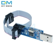 Программатор USBASP USBISP AVR 10Pin кабель USB ISP USB ASP ATMEGA8 ATMEGA128 ATtiny CAN PWM Поддержка Win7 64K 64 64 бит 3,3 В/5 В