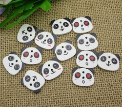 50 pçs de madeira mista panda botões de costura para crianças roupas scrapbooking decorativo botones artesanato needlework diy acessórios