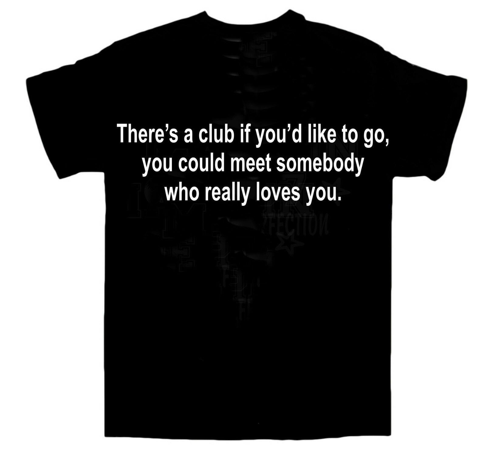 Letras de la camiseta de The Smiths/Morrissey/hay un CLUB si tienes dibujos animados impresos Camiseta de manga corta envío gratis