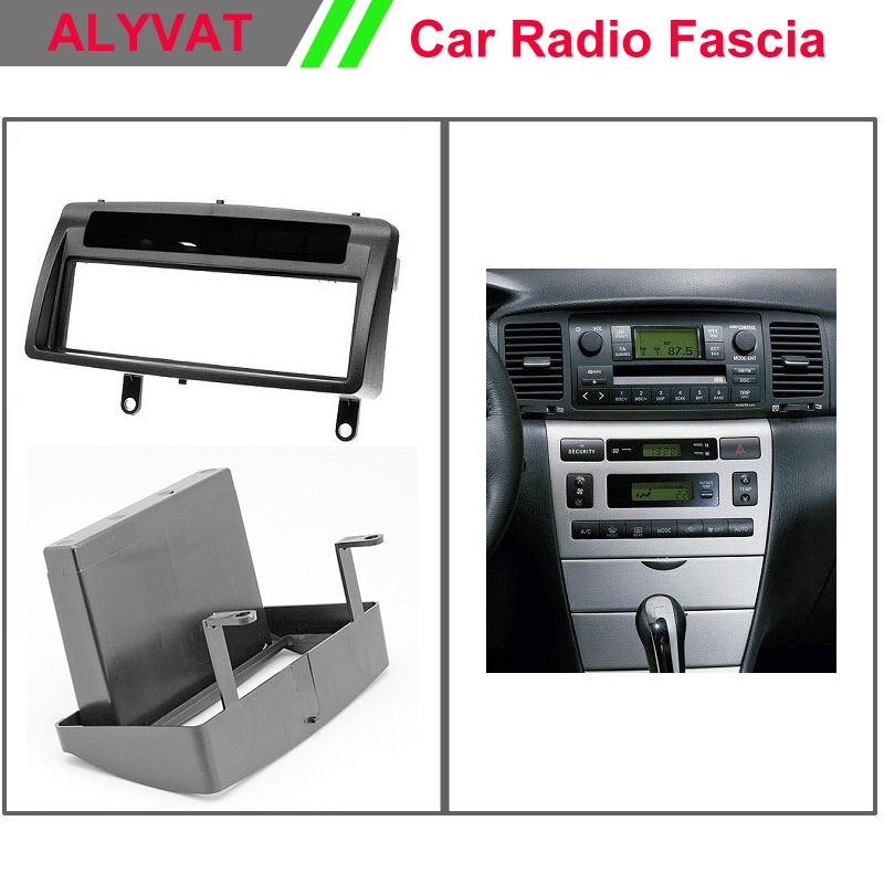 Audio Fascia para TOYOTA Corolla w/bolsillo Headunit Radio CD DVD GPS estéreo CD Panel Dash Instalación en kit de marco ajustable