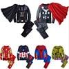 Çocuklar Cosplay Giyim Seti Giyim Karikatür Avengers Marvel Süper Kahraman Demir Adam Kaptan Amerika Örümcek Adam Kazak