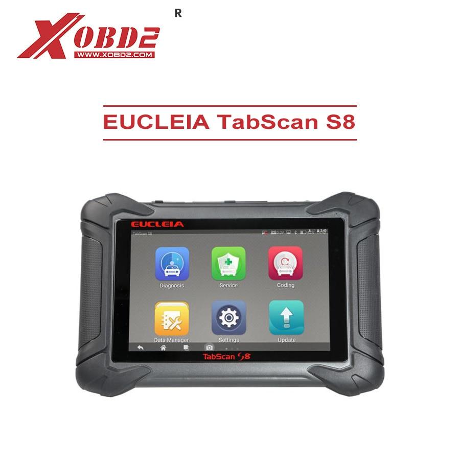 EUCLEIA TabScan S8 Car Ferramenta de Diagnóstico Completo Do Sistema Dual-mode com Wi-fi e Bluetooth Compatível com Protocolos J2534