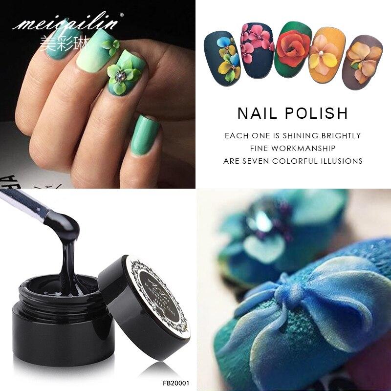 УФ LED 3D лак для ногтей, 1 шт., резной Гель-лак, скульптура, клей для ногтей, моделирующий декор, 12 видов цветов, лак для маникюра, Гель-лак, 2019