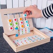 Kinder aufklärung Holz Spielzeug Spiel Rutsche 4-Farbe Rahmen Schiene Schiebe Logic Puzzle Aufkleber Spielzeug baby Pädagogisches Spielzeug Kind geschenk