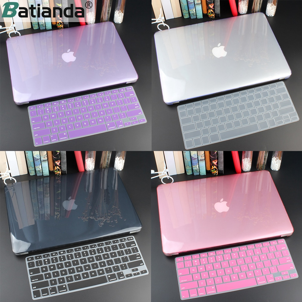 Crystal Hard Case For Macbook Air 13 Retina Pro 13 15 16 2020 A2289 A2159 Hard Cover With Free Keyboard Cover A1466 A2338 A1932