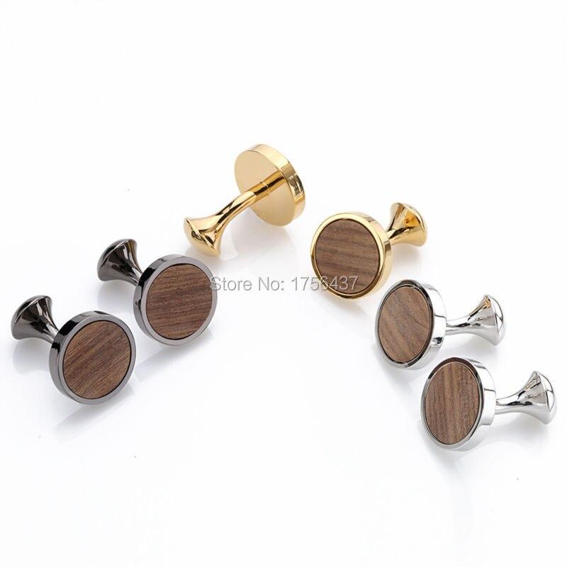 Запонки круглые деревянные в виде ежика, запонки из сандалового дерева для свадьбы, лучшие мужские подарки и подарки для мужчин в подарочно...