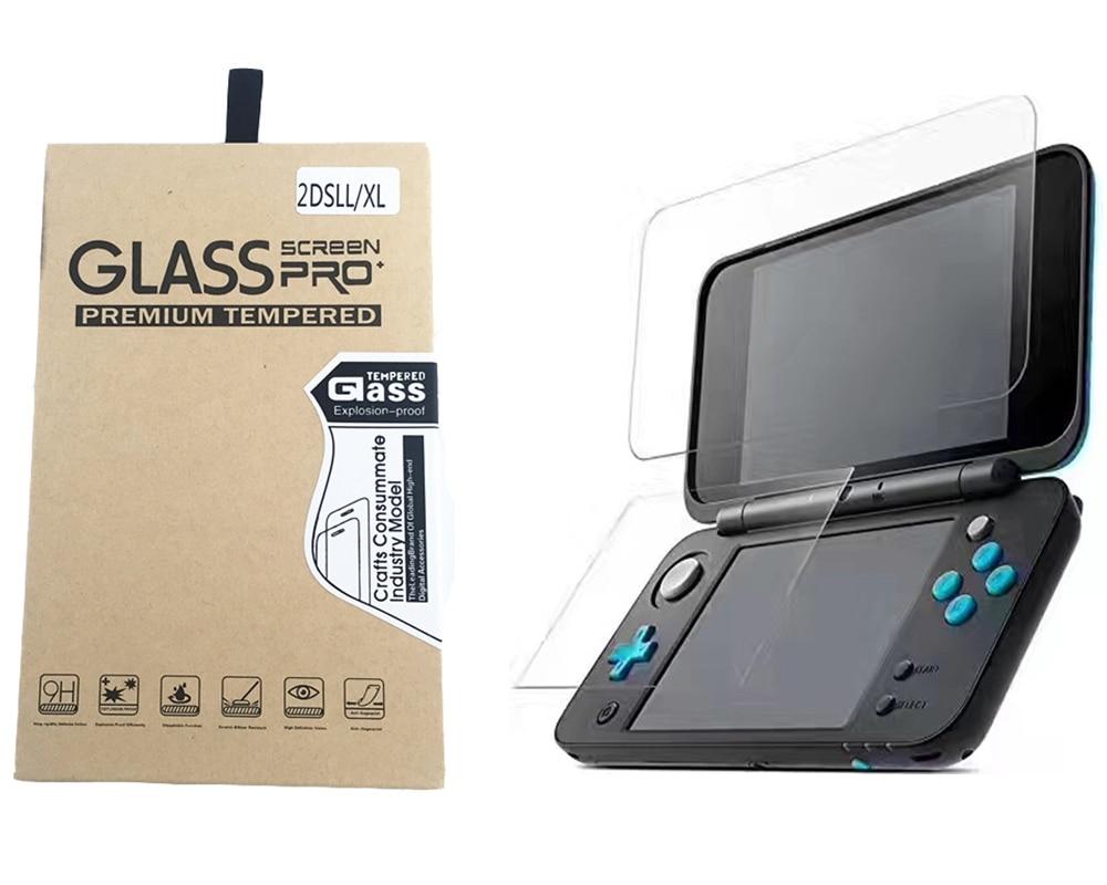 Protector de pantalla de cristal templado LCD superior HD, Protector de pantalla LCD de botón, filtro para Nintendo 2DS XL nuevo 2DS LL