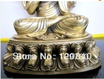 00409 Tibetano Tsongkhapa estátua de buda de bronze