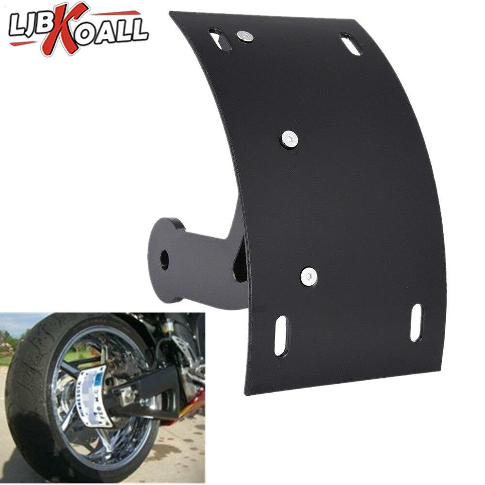 Suporte da placa de licença da curva da montagem lateral do braço oscilante da motocicleta de alumínio preto para 2006-2013 suzuki boulevard m109r 2011 2012 cromo
