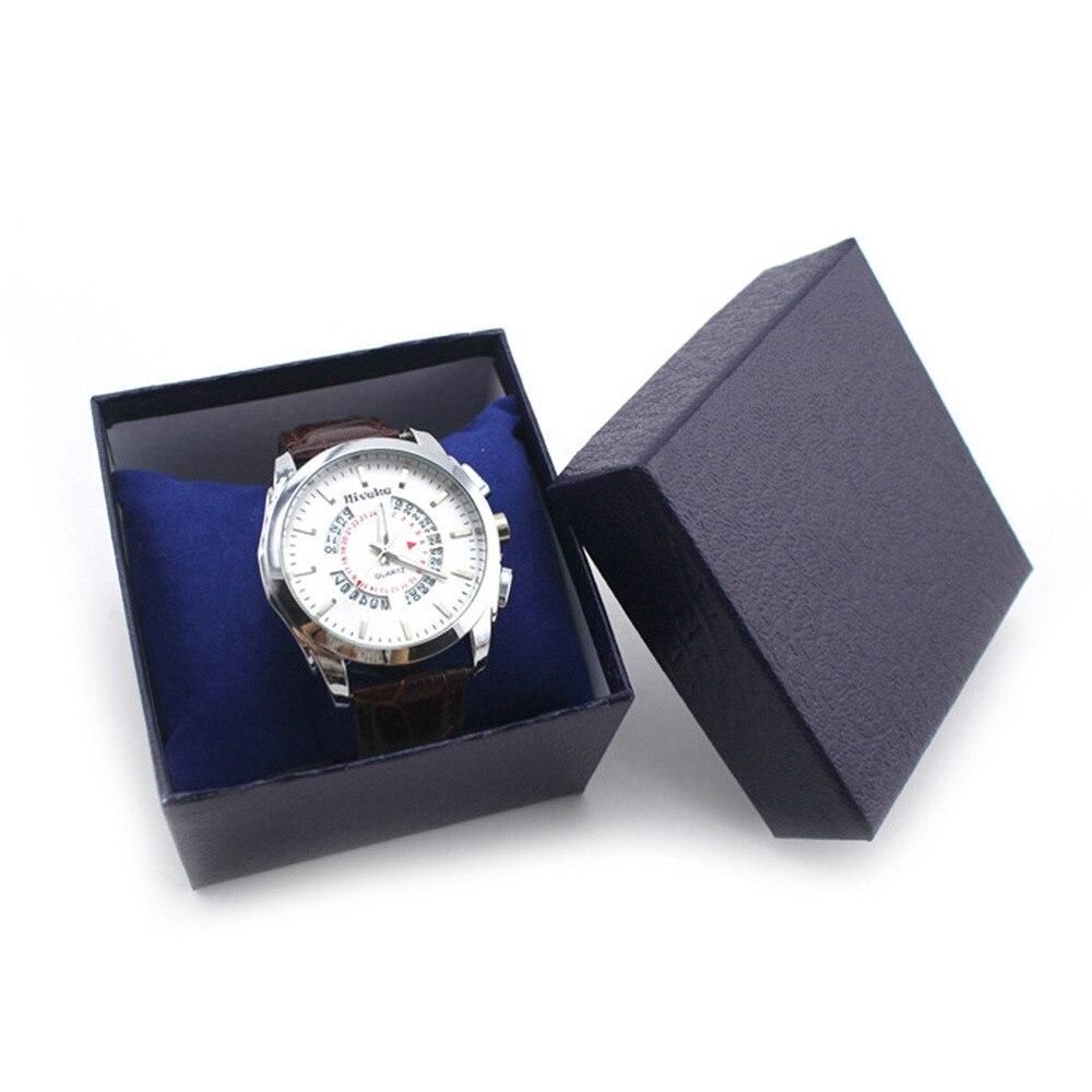 Caja reloj gran oferta Negro Azul Rojo duradero regalo caja para pulsera brazalete caja para reloj de joyería Venta caliente más nuevo
