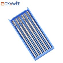 GOXAWEE 6 pièces Fraises pour Dremel Accessoires Doutils Électriques Rotatives Outils Rotatifs 009 #/014 #/018 #/023 # Fraises En Acier Outil Abrasif