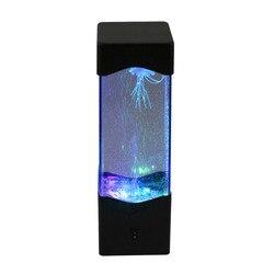 Água-viva lâmpada led para aquário, luz de cabeceira relaxante para decoração de casa, presente para criança