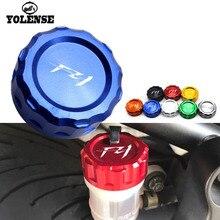 Para YAMAHA FZ1 FZ1N F Z 1 FZ1S accesorios de la motocicleta CNC de aluminio tapa de depósito del freno trasero tapas
