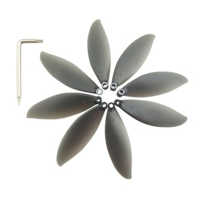 8PCS propeller for parrot anafi aerial four-axis drone propeller black