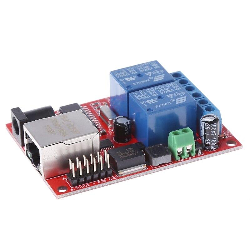 2019 1 шт. LAN Ethernet 2-сторонний релейный переключатель задержки TCP/UDP модуль контроллера веб-сервер