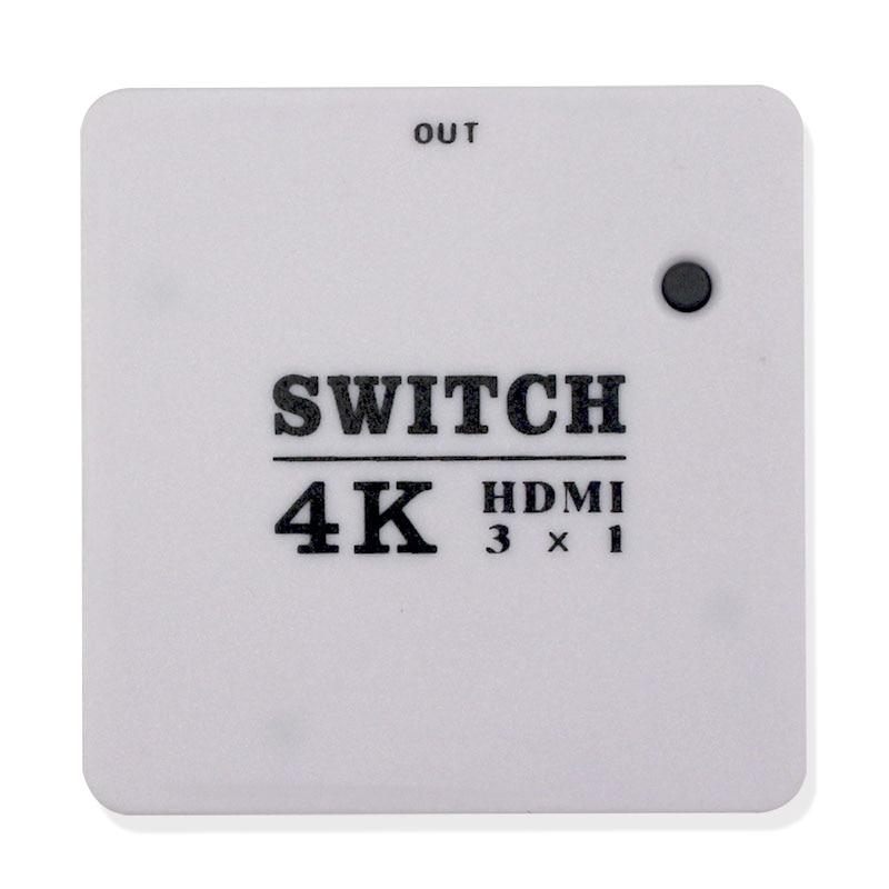 Amplificador video completo do divisor do apoio 4 k do switcher do interruptor do porto hdmi v1.3 de hd 1080 p mini 3 para dvd ps3, xbox 360