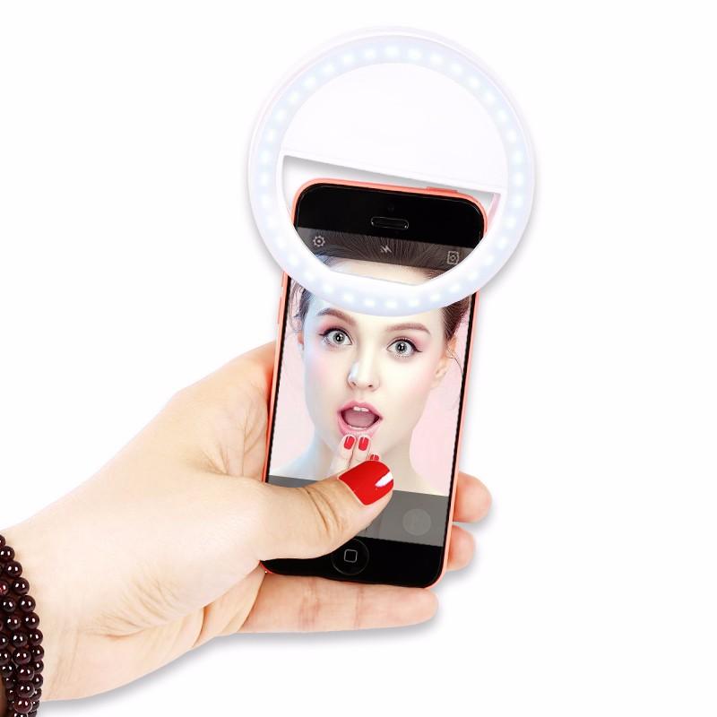 Luksusowe Uniwersalne Świetlna LED Flash Light Up Selfie Telefonu Pierścień Dla iPhone 6 6 S Plus LG Samsung Dla Xiaomi Huawei Lenovo Oneplus 1