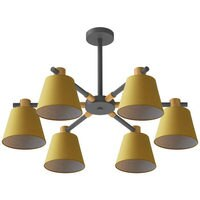 Nordic Modern Macarons Iron Chandeliers Fabric Lampshade Lights for Living Room Bedroom Restaurant Home Lighting Fixtures Decor