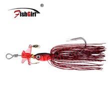 Hameçons de tête de pêche en métal de marque Fishgirl leurres de pêche appâts Spinner 18g avec matériel de pêche à lhélice Pesca Isca artificiel