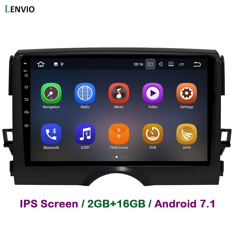Lenvio 2GB RAM 2 Din Android 7,1 CAR Radio GPS de navegación multimedia para Toyota Reiz Mark X 2011-2015, 2016, 2017 reproductor de DVD del coche