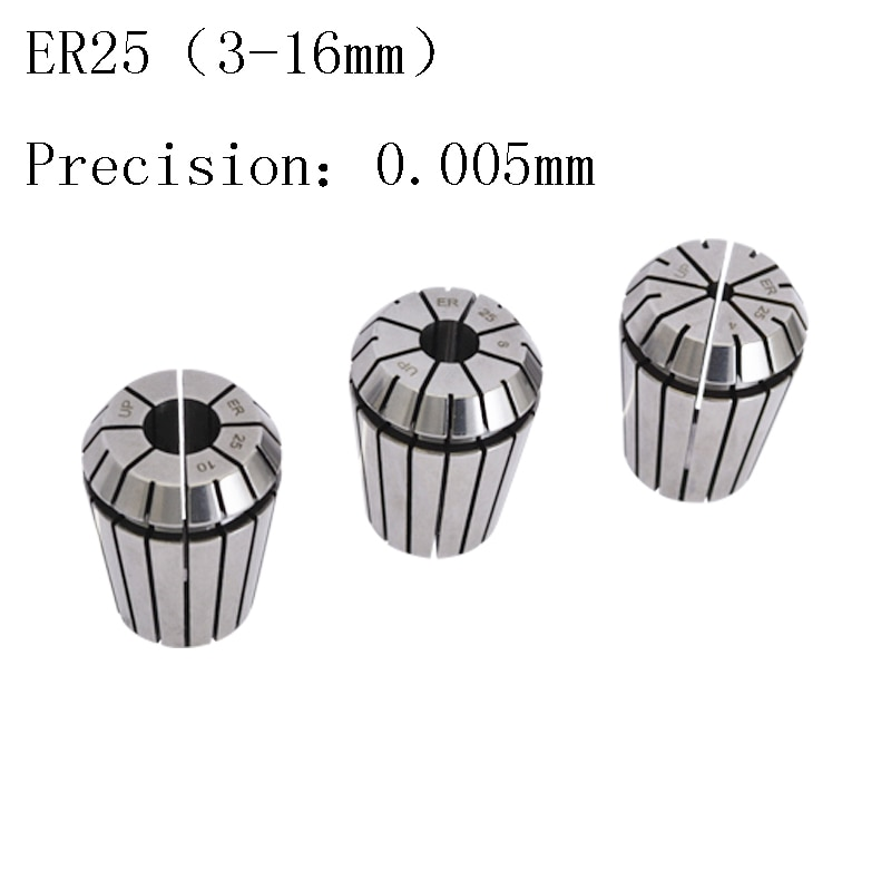 Mandril de máquina de grabado de 0.005mm de alta precisión ER25, Portabrocas cilíndrico elástico CNC, accesorios de 3 4 6 8-16mm