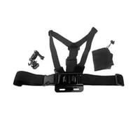 WLJIAYANG Chest Strap Belt Body Tripod Harness Mount for Gopro Hero 8 7 6 5 4 3  3 2 1 with 3-way adjustment base and bag