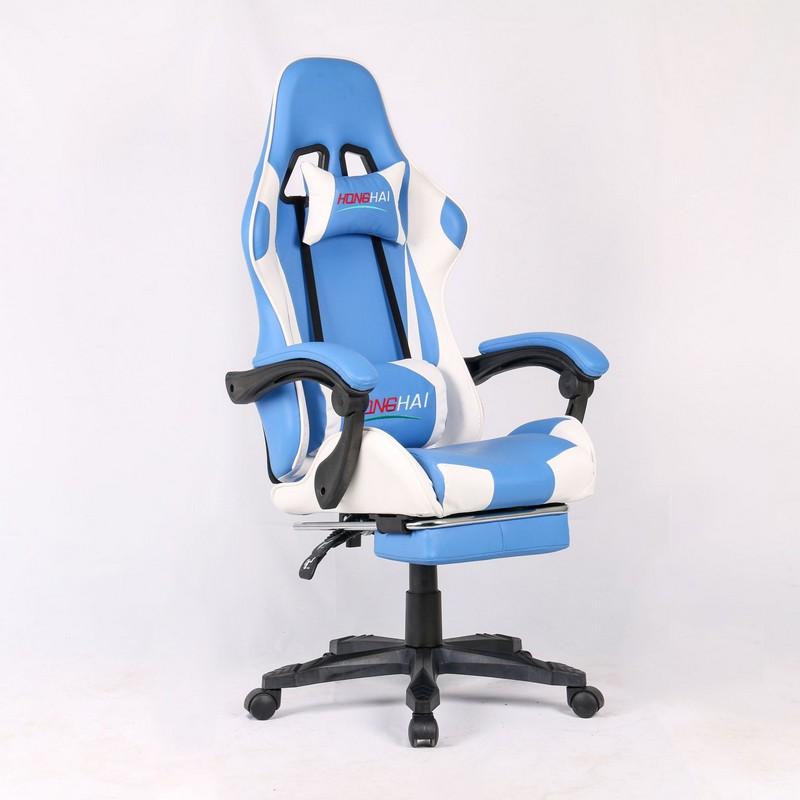 Высокое качество игровое кресло голубой подъемник поворотный подлокотник