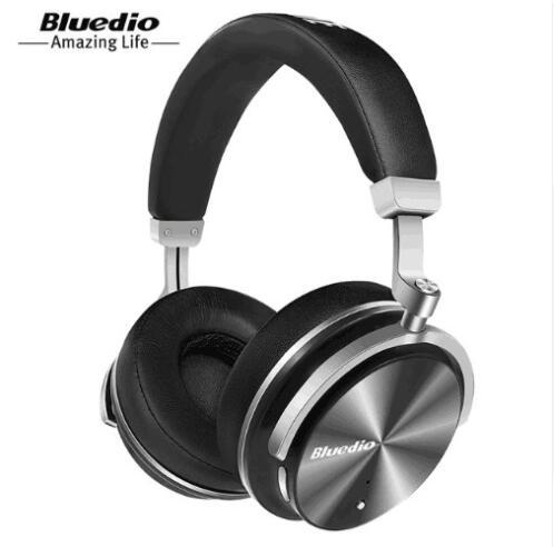 Bluedio-سماعة بلوتوث محمولة T4 ، لاسلكية ، مع ميكروفون ، موسيقى