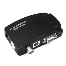BNC to VGA Converter Composite SVIDEO to VGA Video Converter VGA Out Adapter Digital Switch Box Box For PC MACTV Camera DVD DVR