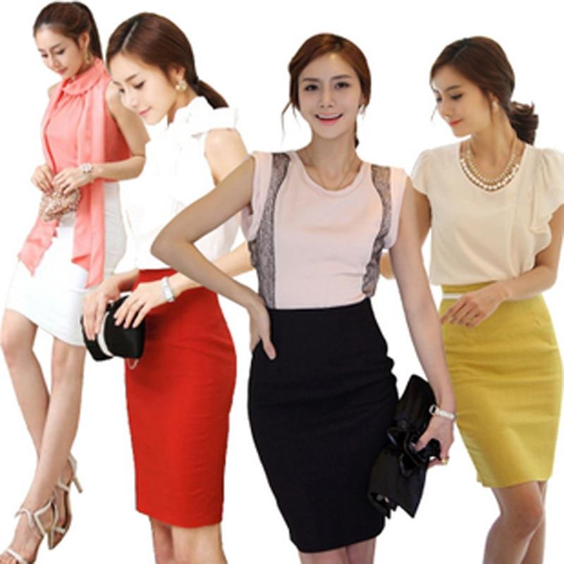 XS-3XL Women Candy Colors Pencil Skirt Fashion OL Slim Bodycon Skirt Business Wear High Waist Elegant Summer Long Skirts Faldas
