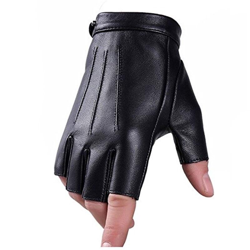 ¡OFERTA 2020! Guantes tácticos Eldiven guantes sin dedos de imitación Cuero de poliuretano pantalla táctil guantes de conducción para adolescentes