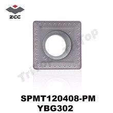 SPMT120408-PM YBG302 ZCC. CT SPMT 120408 Hardmetaal Afschuining Frezen inserts SPMT120408-PM afkanten frezen gereedschap