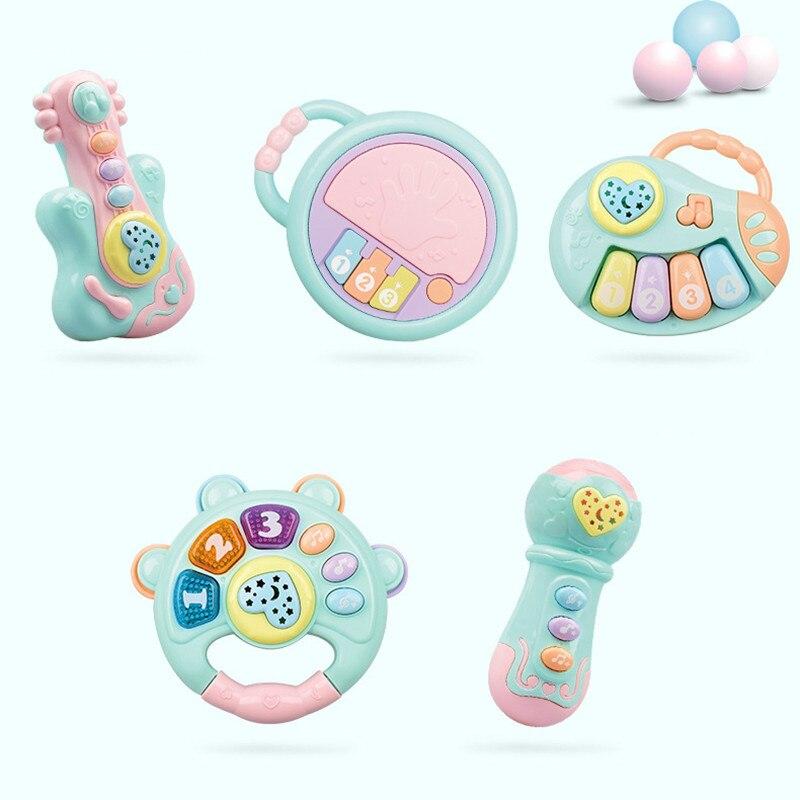 Sonajeros de juguete para bebés de 0 a 12 meses, gomas de plástico, Cascabel manual, Juguete musical educativo, instrumento para niños