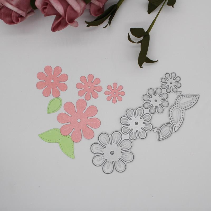 Metal steel frames Cutting Dies flower leaves decoration  DIY Scrap booking Photo Album Embossing paper Cards 13.4*6.7cm