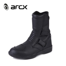 ARCX-bottes déquitation de Moto en cuir   Cuir véritable de vache, bottes de Moto imperméables, Chopper Cruiser Touring Street Moto de course en veau moyen