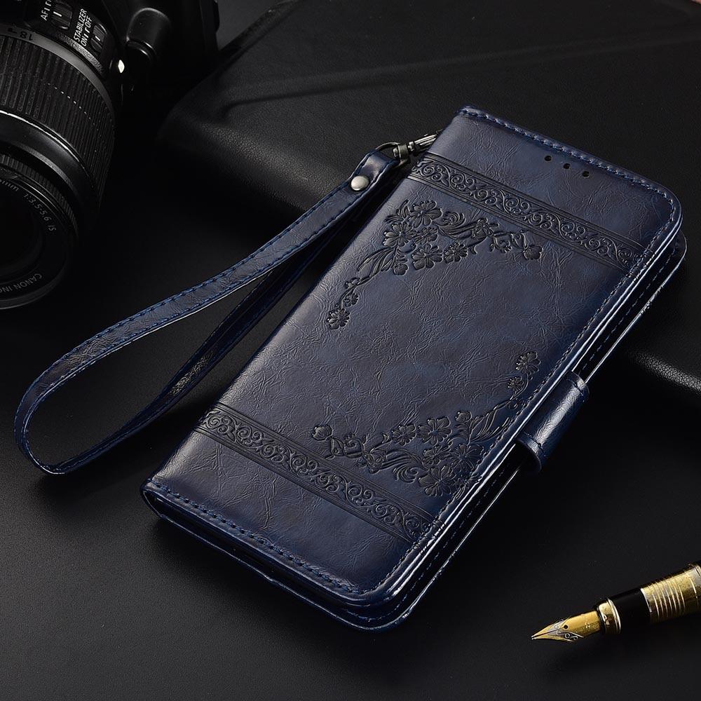 Funda de cuero con tapa para Lenovo K9 Note Fundas impresas flores 100% especial cartera funda con soporte con correa