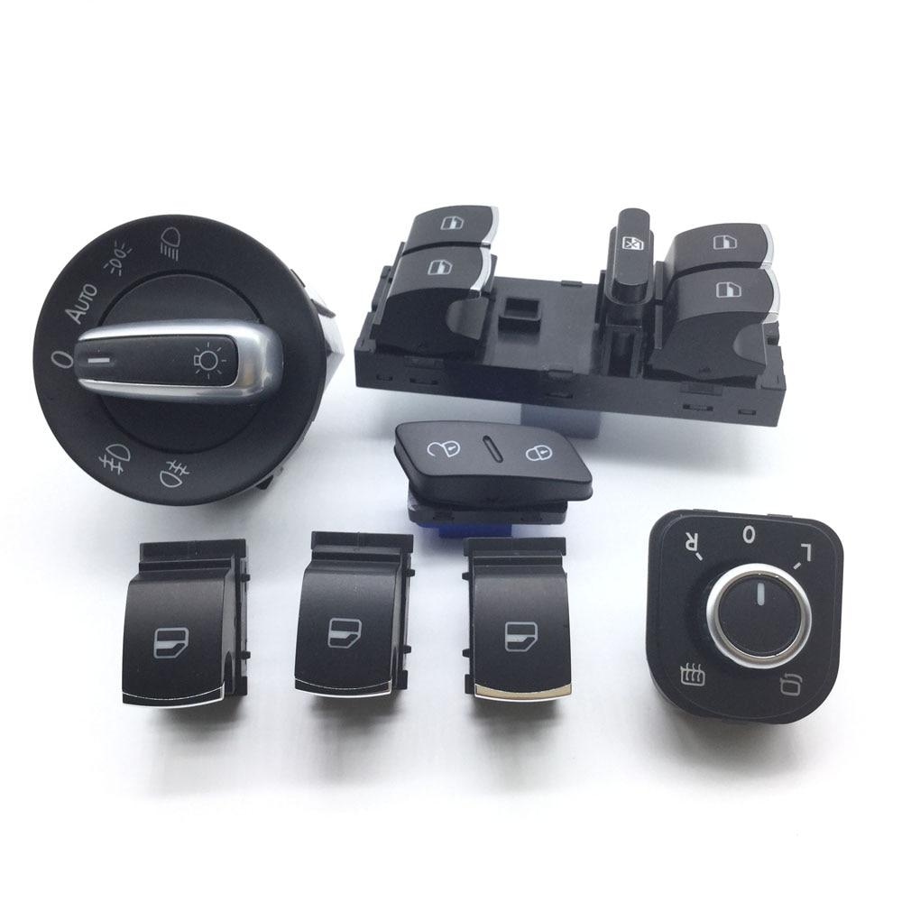 5ND959565A 5ND959857 5ND941431B 1K0962125 interruptor para el Control de puerta para VW Jetta Golf MK5 6 Tiguan RABBIT