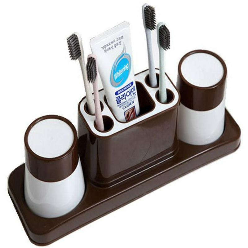 Practical Toothpaste Cup Toothbrush Holder Multifunctional Healthy Dust-proof  2/3 Wash Brush Cups Prevent Bacteria Bathroom Set enlarge