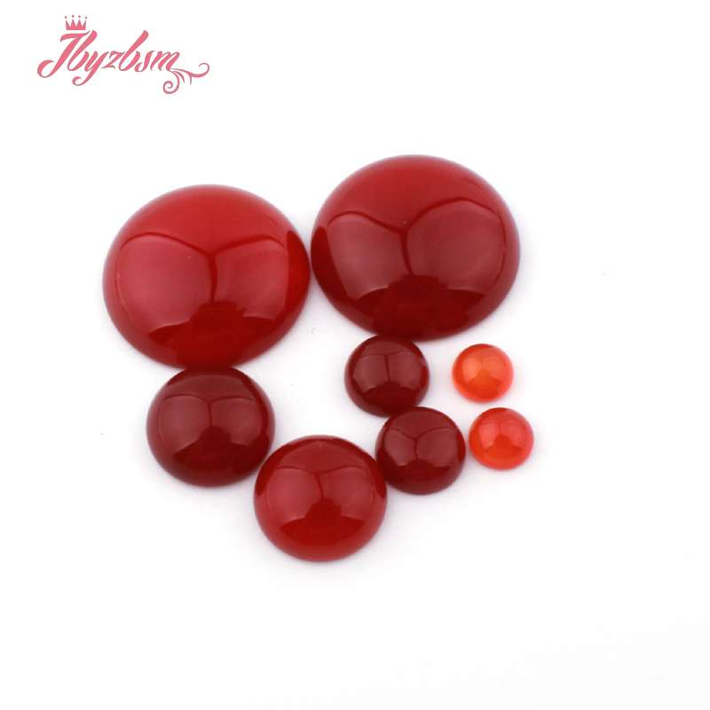 Moeda ágata vermelha contas cab cabochon flatback cúpula undrilled contas de pedra natural para diy pandandt brinco anel jóias fazendo 5pc