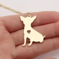 be cute chihuahua necklace dog pet memorial gift toy dog christmas gift necklaces pendants women animal pendant charms
