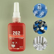 1 pc 50 ml 금속 나사 접착제 원통형 리테이너 잠금 접착제 혐기성 접착제 열 강도 고강도 스레드 로커