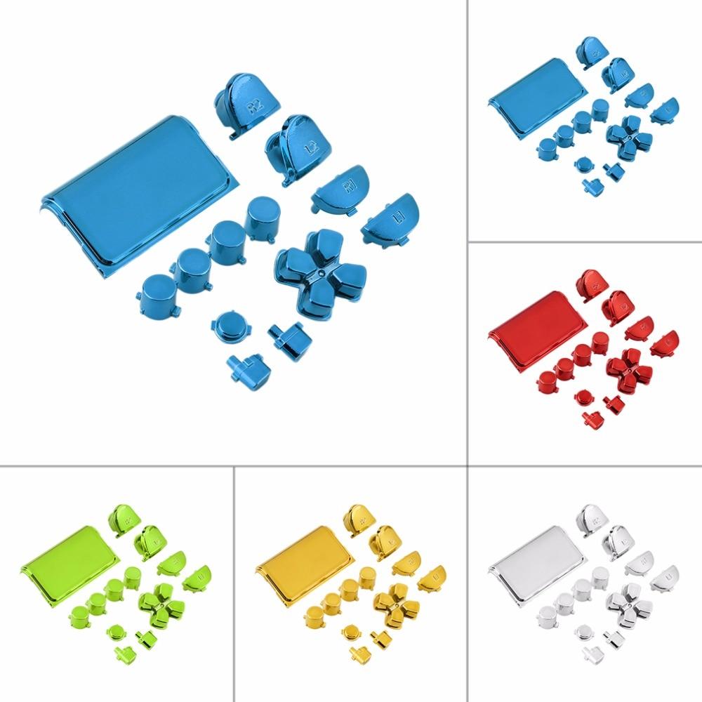 Новый красочный полный хром Кнопка Замена мод Игровой Набор для Playstation 4 для PS4 контроллер Джойстик видео игры Playstation