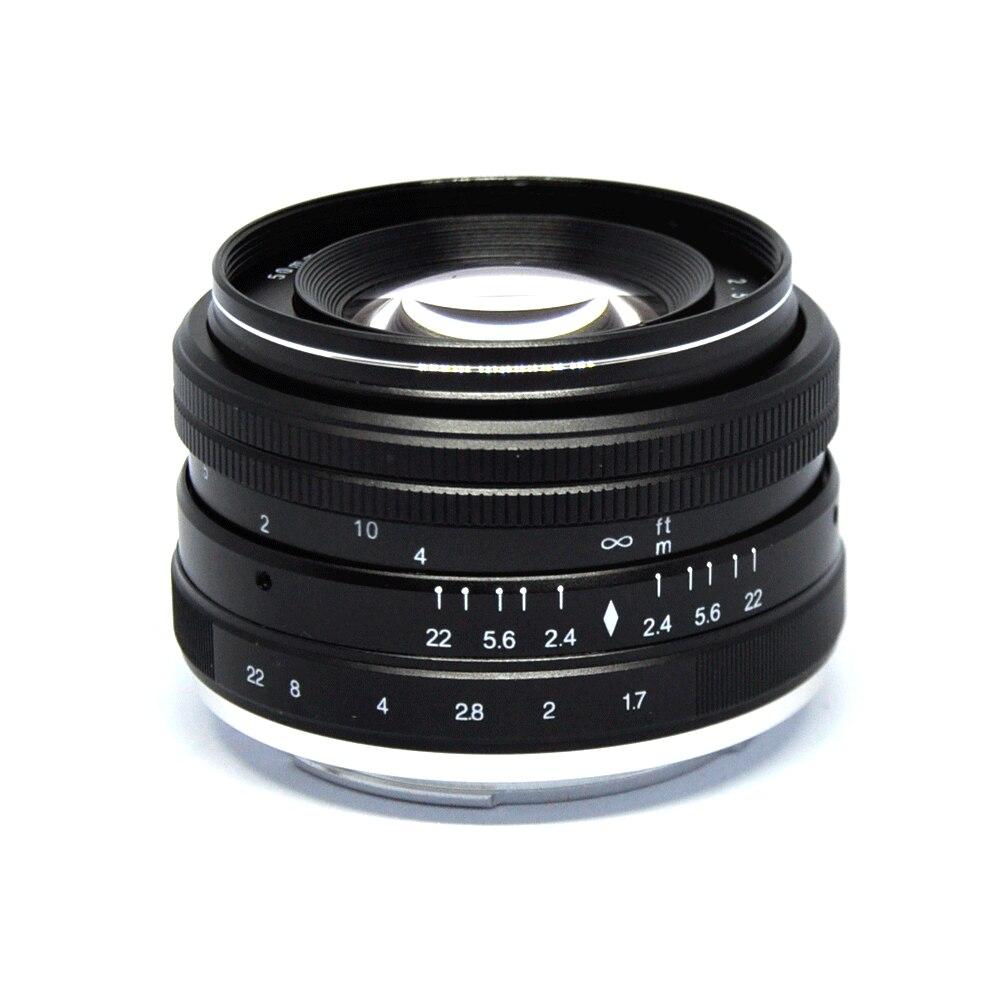 JINTU Pro 50mm f/2,0-f22 lente Manual Prime para Sony e-mount APS-C Sony NEX5 NEX6 NEX7 A5000 A5100 A6000 A6300 A6500 cámaras
