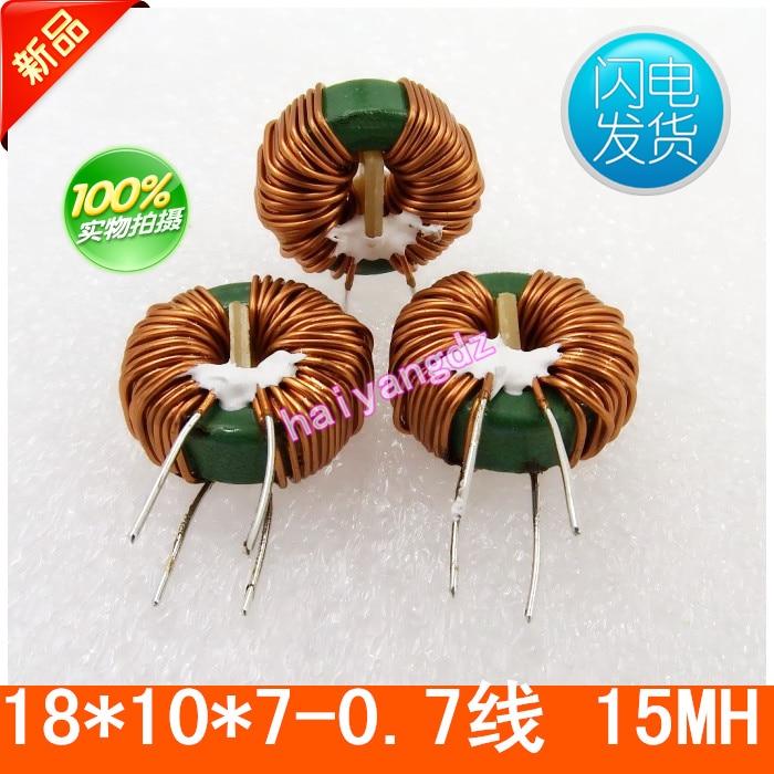 3 uds/18*10*7 15MH 0,7 línea de bobina de choque anular inductores forma común de ferrita Mn Zn inductor 5A