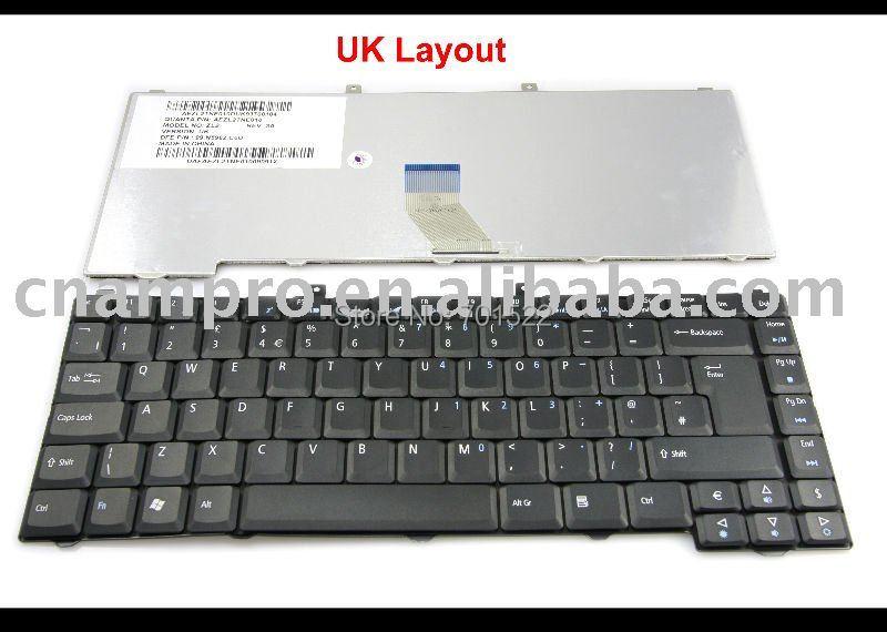 Nuevo Reino Unido portátil teclado del ordenador portátil para Acer Aspire 1410,...