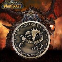 Wow Vintage Quartz Zakhorloge Steampunk World Of Warcraft Horde Skelet Dinosaurus Mannen Jongens Kids Ketting Hanger Huwelijkscadeau