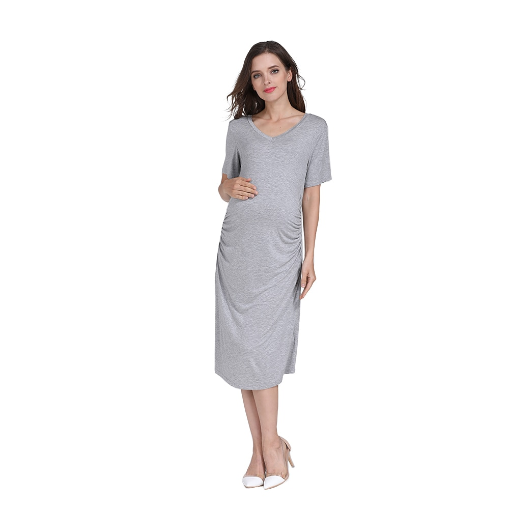 Emotion Moms Summer Pregnant Clothes Women Plus Size Pregnancy Nightgown Maternity Night Dress Wholesale 2pcs/lot enlarge