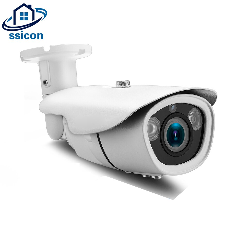 SSICON H.265 5MP POE IP Camera 2.8-12mm Varifocal Lens Manual Zoom IR 40M Infrared P2P Surveillance Security IP Camera ONVIF ssicon 2 0mp dome ip camera 2 8 12mm varifocal lens manual zoom onvif 1080p home security camera poe night vision