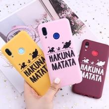 Силиконовый чехол для телефона Samsung S8 S9 S10 S10e S20 Plus Note 8 9 10 A7 A8 Hakuna Matata Lion King Candy, чехлы