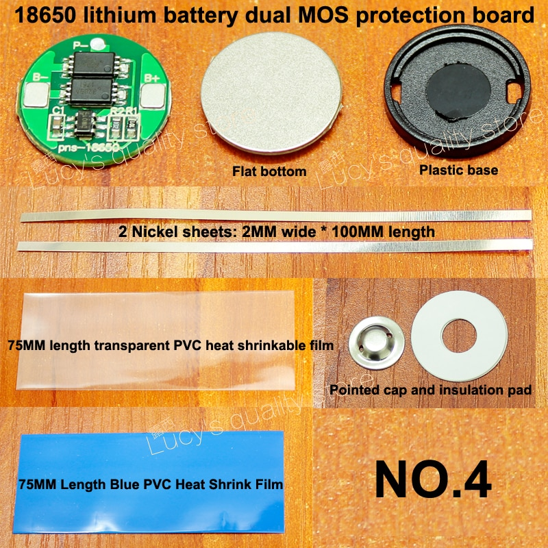 Купить с кэшбэком 10set/lot 18650 lithium battery universal dual MOS protection board 4.2V18650 cylindrical protection board 6A current